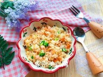 【宝宝辅食】三文鱼耳光炒饭的做法步骤:14