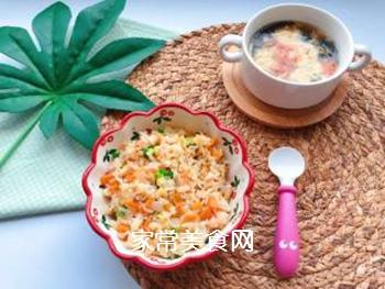 【宝宝辅食】三文鱼耳光炒饭的做法步骤:16