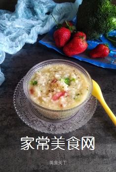 宝宝果蔬磷虾粥的做法