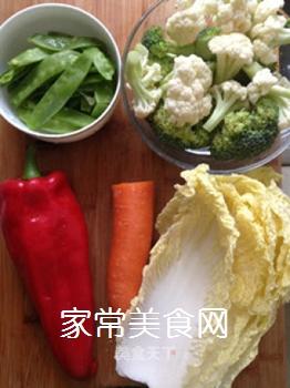 杂蔬小炒的做法步骤:1