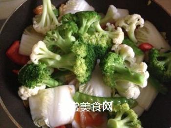 杂蔬小炒的做法步骤:12