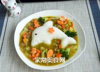 咖喱土豆牛肉拌饭的做法步骤:8