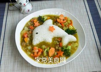咖喱土豆牛肉拌饭的做法