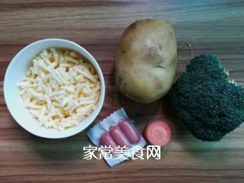 薯蓉芝士焗西兰花的做法步骤:1