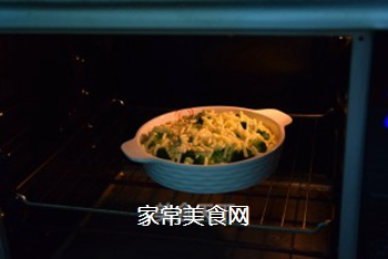 薯蓉芝士焗西兰花的做法步骤:9