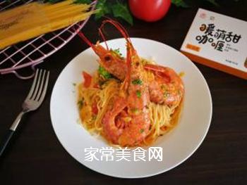 红虾意面的做法步骤:17