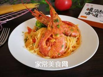 红虾意面的做法步骤:18