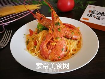 红虾意面的做法