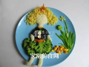 卷发女孩创意儿童餐的做法步骤:7