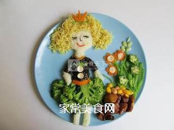 卷发女孩创意儿童餐的做法步骤:8