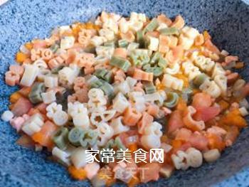 【宝宝辅食】三文鱼杂蔬意面的做法步骤:13