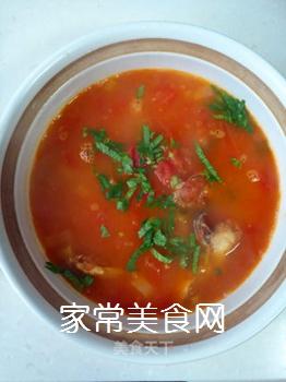 西红柿炸鱼汤的做法步骤:8