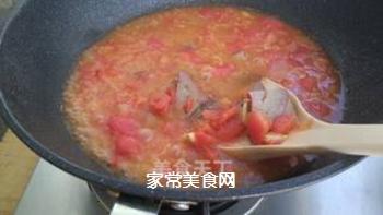 番茄猪肝糯米粉浓汤的做法步骤:7