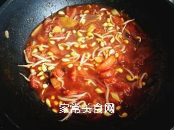 西红柿豆角卤面的做法步骤:18