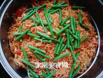 西红柿豆角卤面的做法步骤:21