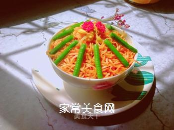 西红柿豆角卤面的做法