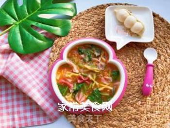 【宝宝辅食】藜麦蝴蝶面汤的做法步骤:10