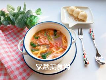 【宝宝辅食】藜麦蝴蝶面汤的做法步骤:12