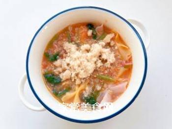 【宝宝辅食】藜麦蝴蝶面汤的做法步骤:13