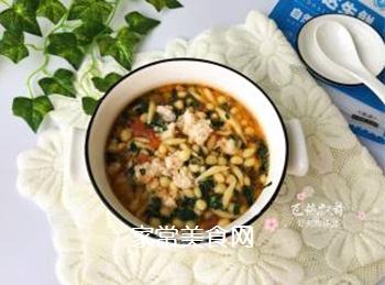 宝宝辅食:虾丸珍珠面的做法步骤:11
