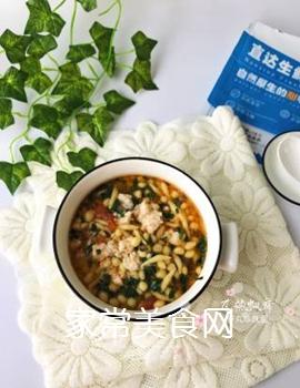 宝宝辅食:虾丸珍珠面的做法步骤:12