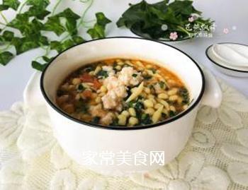 宝宝辅食:虾丸珍珠面的做法步骤:14
