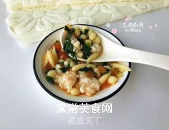 宝宝辅食:虾丸珍珠面的做法步骤:18