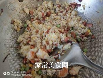 鲜虾�h饭的做法步骤:2