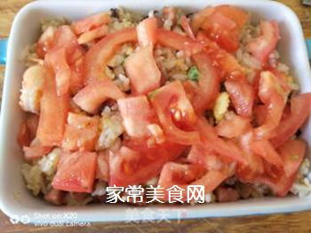 鲜虾�h饭的做法步骤:3