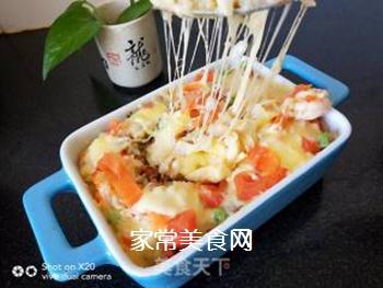 鲜虾�h饭的做法步骤:5