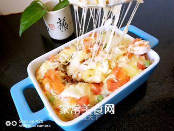 鲜虾�h饭的做法