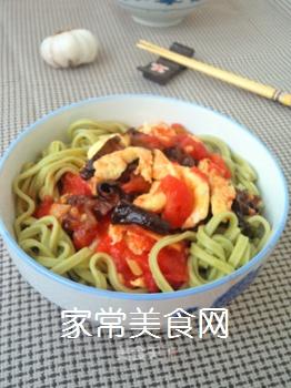 西红柿木耳菠菜面的做法步骤:10