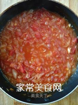 茄汁拌面的做法步骤:7