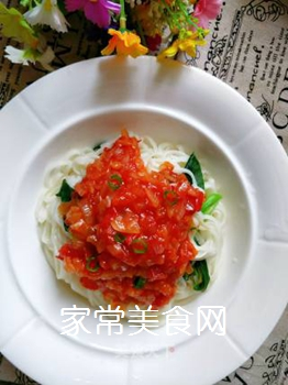 茄汁拌面的做法步骤:14