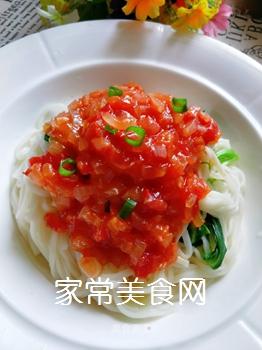 茄汁拌面的做法