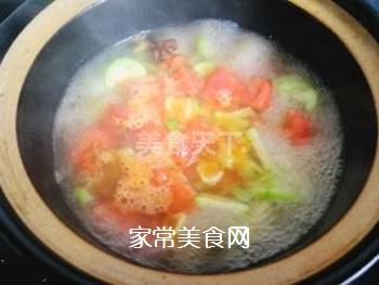 丝瓜面片的做法步骤:10