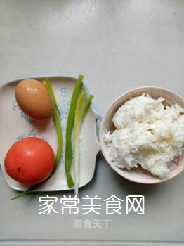 西红柿鸡蛋炒饭的做法步骤:1