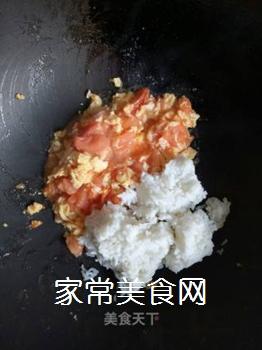 西红柿鸡蛋炒饭的做法步骤:6