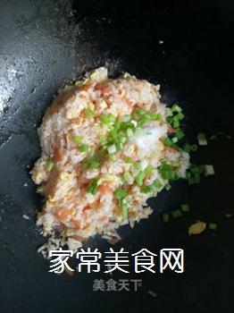 西红柿鸡蛋炒饭的做法步骤:7