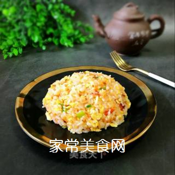 西红柿鸡蛋炒饭的做法步骤:8