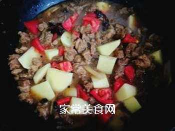 西红柿土豆炖牛腩的做法步骤:12