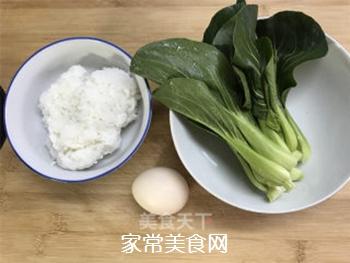 青菜鸡蛋炒饭的做法步骤:1