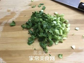 青菜鸡蛋炒饭的做法步骤:2