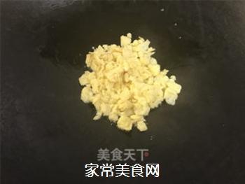 青菜鸡蛋炒饭的做法步骤:5
