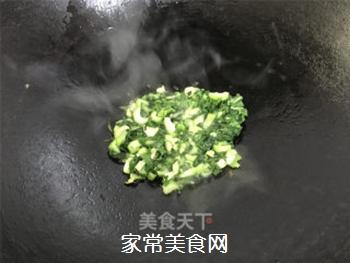 青菜鸡蛋炒饭的做法步骤:6