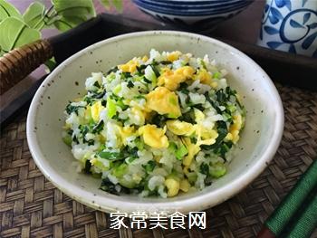 青菜鸡蛋炒饭的做法