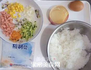原味蛋炒饭的做法步骤:1