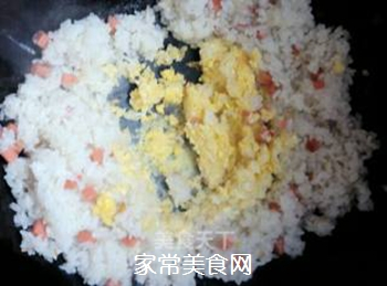 原味蛋炒饭的做法步骤:5