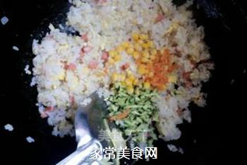 原味蛋炒饭的做法步骤:6
