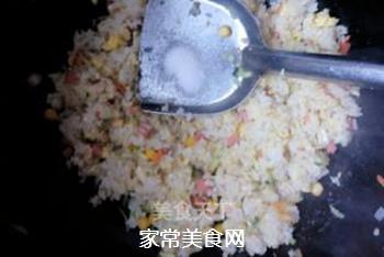 原味蛋炒饭的做法步骤:7